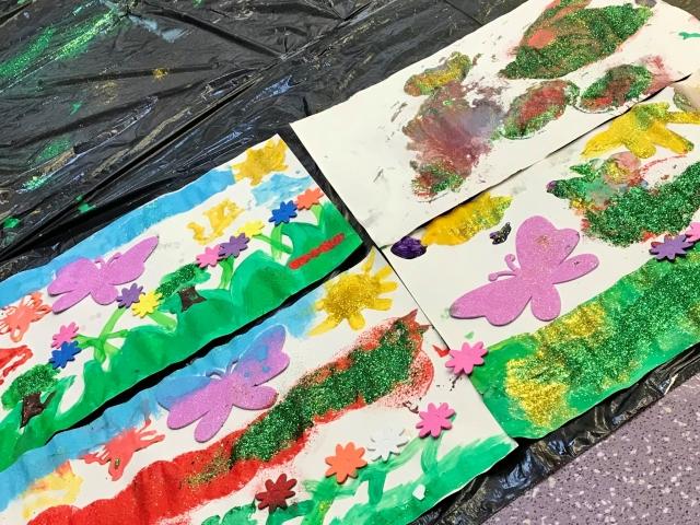 painting butterflies